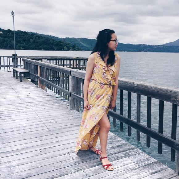 Dresses & Skirts - Mustard Floral Maxi Dress